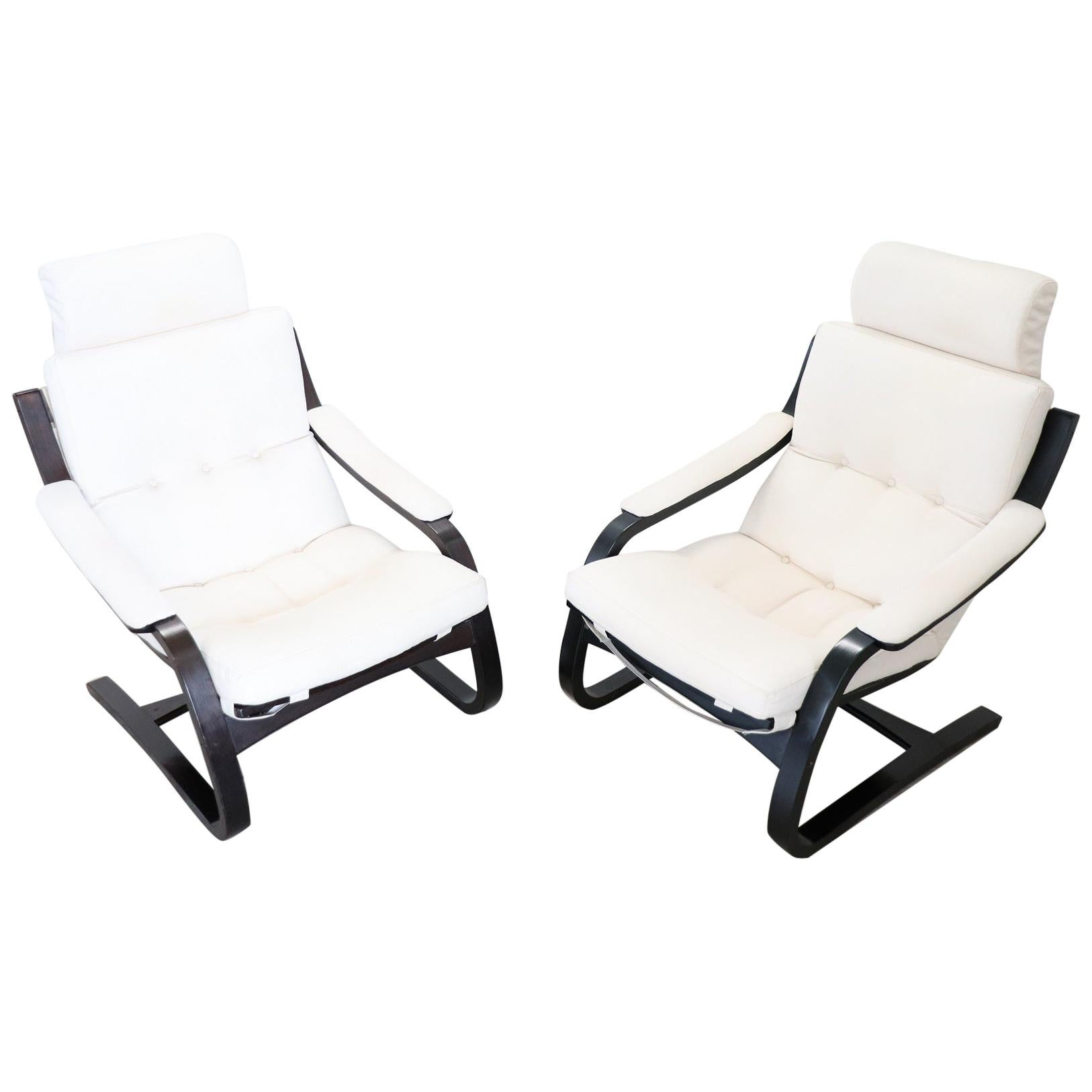 Swedish Pair of Kroken Lounge Chairs by Ake Fribytter for Nelo Mobel, 1970s