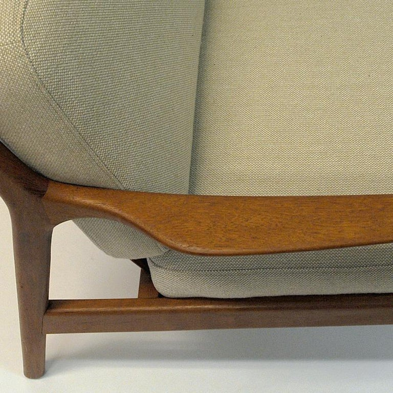 Swedish Pair of Teak Loungechairs Mod USA 75 by Folke Ohlsson for DUX, 1960s For Sale 1