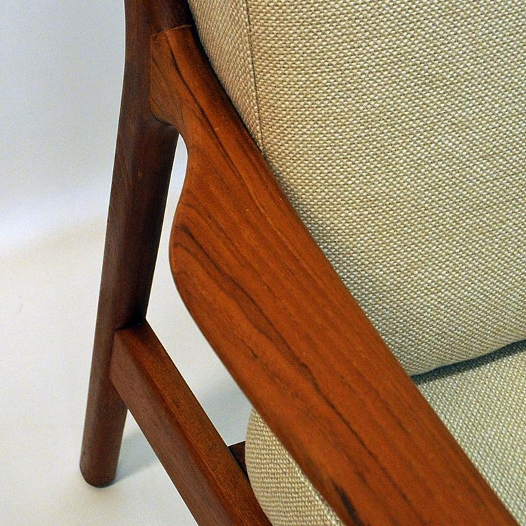 Swedish Pair of Teak Loungechairs Mod USA 75 by Folke Ohlsson for DUX, 1960s For Sale 2