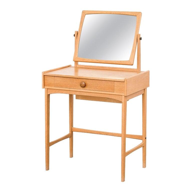 "Swedish ""Palett"" Vanity Table in Oak by AB Nybrofabriken, Fröseke For Sale"