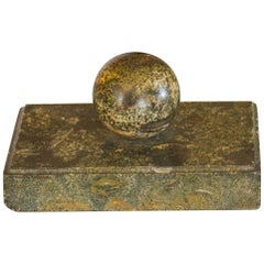 Swedish Paper Weight in Marble from the Island of Öland, circa 1850