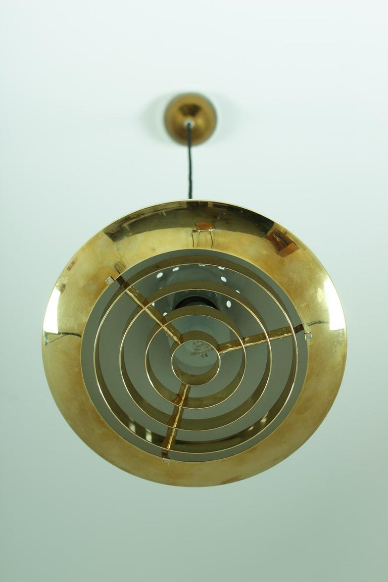 Swedish Pendant in Rosewood and Perforated Brass by Falkenberg For Sale 1
