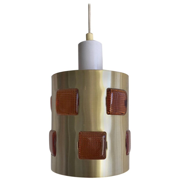 Swedish Pendant or Ceiling Lamp Attributed to Einar Backstrom and Erik Hoglund For Sale