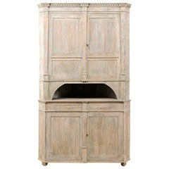 Swedish Period Gustavian Corner Cabinet from the Early 19th Century