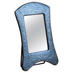 Swedish, Petit Table Mirror, Hammered Copper, Mirror Glass, Sweden, 1930s