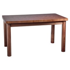 Swedish Pine Dining Table and Bench, 1960s