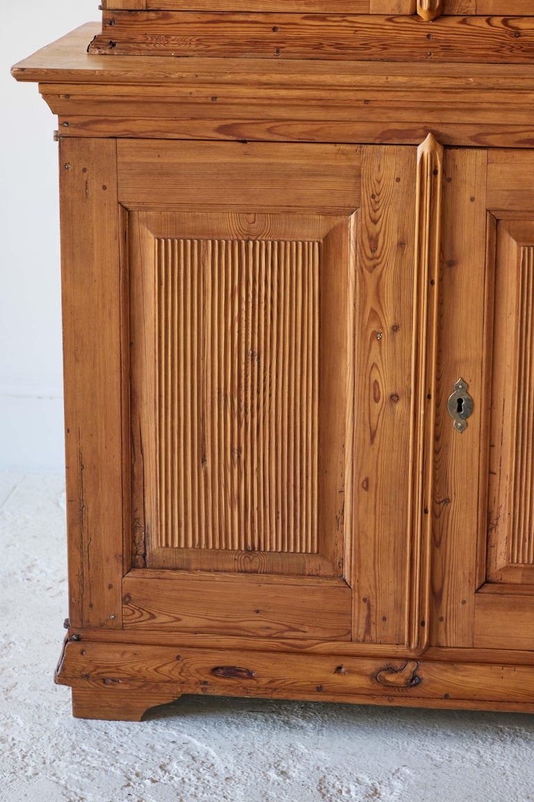 Swedish Pine Four Door Hutch For Sale 1