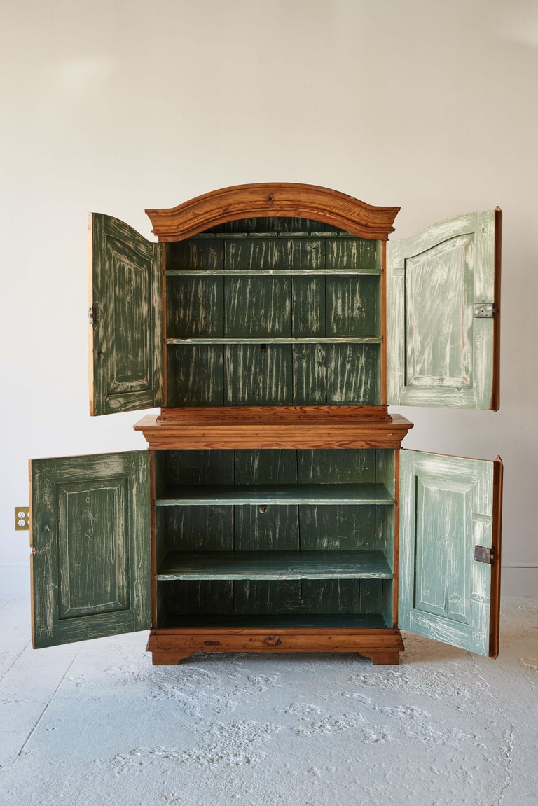 Swedish Pine Four Door Hutch For Sale 2