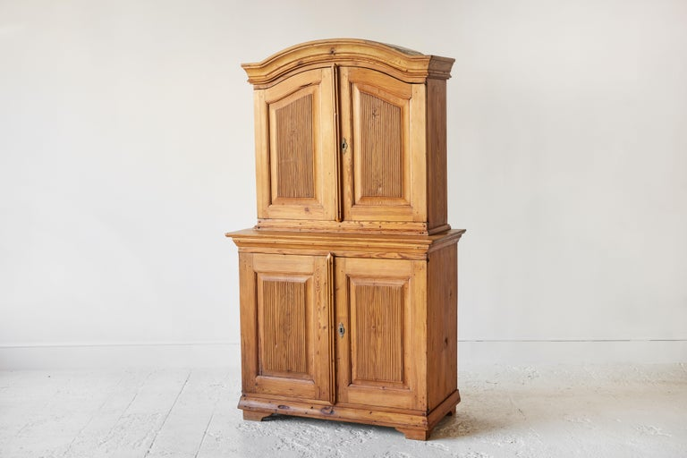 Swedish Pine Four Door Hutch For Sale 4