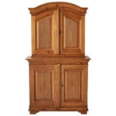 Swedish Pine Four Door Hutch