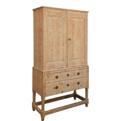 Swedish Pine Tall Cabinet