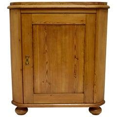 Swedish Pitch Pine One Door Corner Cupboard
