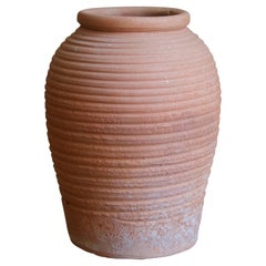 Swedish, Planter / Vase, Incised Earthenware, Sweden, Early 20th Century