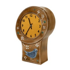 Swedish Pottery Clock by Sylvia Leuchovius for Rorstrand
