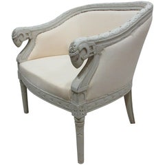 Swedish Rams Head Bergère Chair