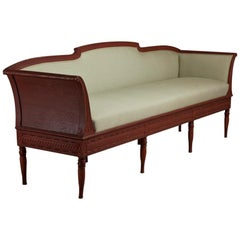 Swedish Red Painted Gustavian Sofa, circa 1790