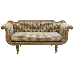 Swedish Regency Sofa with Upholstered Seating