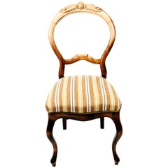 Swedish Rococo Chairs in Carved Birch, Early 1900s