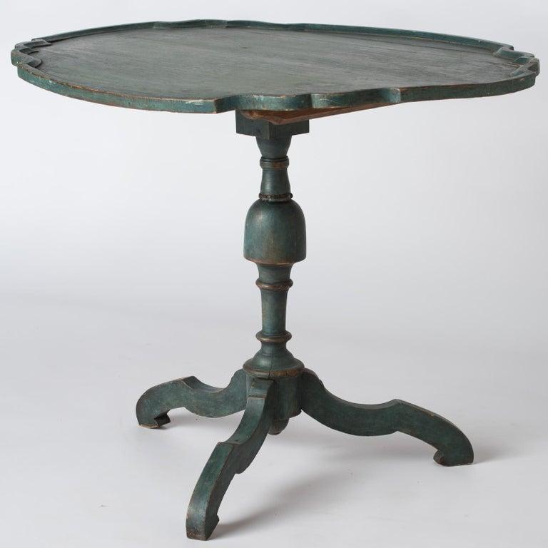 Swedish Rococo Period Flip Top Table, circa 1760 For Sale 1