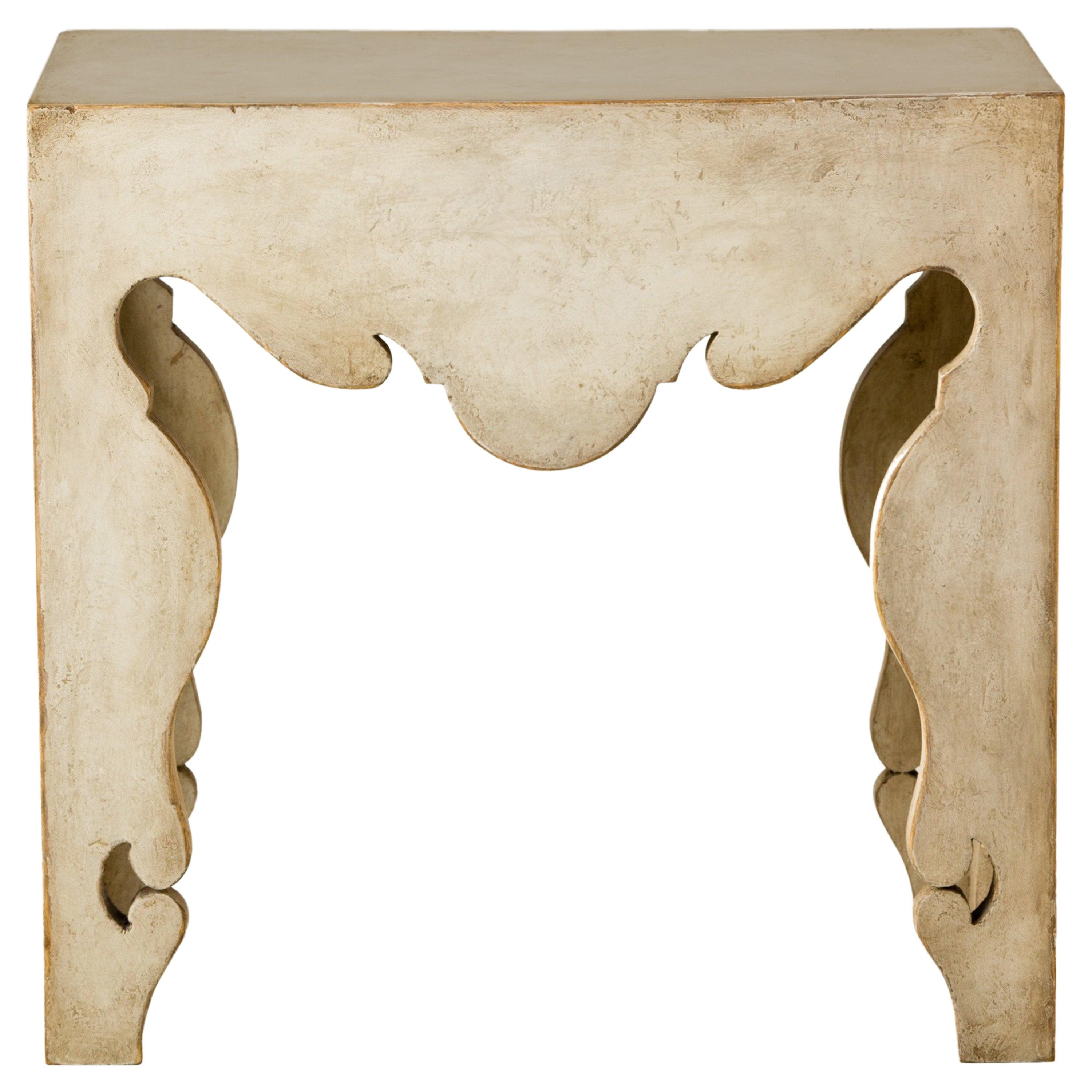 Contemporary Martini Side Table with Painted Swedish Finish
