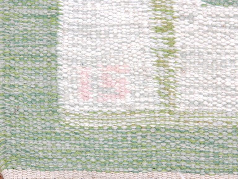 Scandinavian Modern Swedish Rolakan Carpet Handwoven Wool For Sale