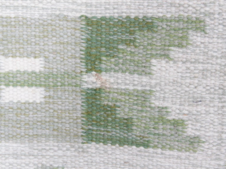 Late 20th Century Swedish Rolakan Carpet Handwoven Wool For Sale