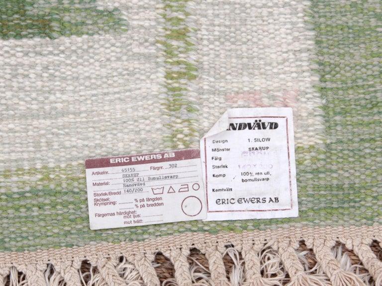 Swedish Rolakan Carpet Handwoven Wool For Sale 3