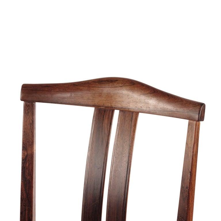 Scandinavian Modern Swedish Rosewood chairs, Designed by Bertil Fridhagen, 1960s For Sale