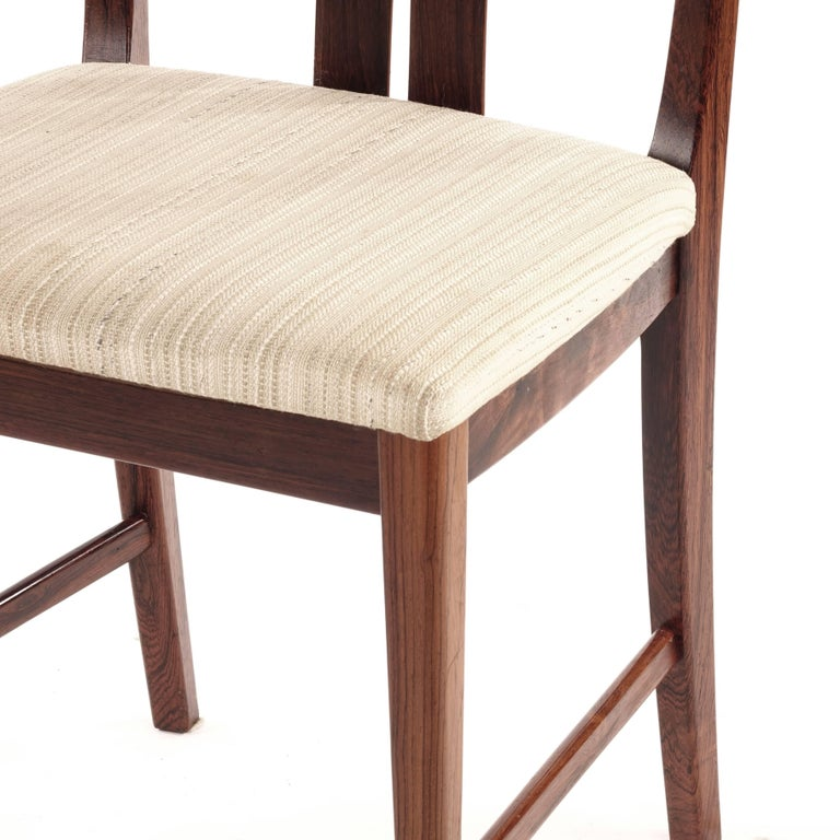 Swedish Rosewood chairs, Designed by Bertil Fridhagen, 1960s In Good Condition For Sale In Singapore, SG