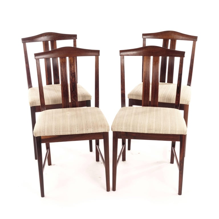 Mid-20th Century Swedish Rosewood chairs, Designed by Bertil Fridhagen, 1960s For Sale