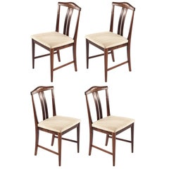 Swedish Rosewood chairs, Designed by Bertil Fridhagen, 1960s