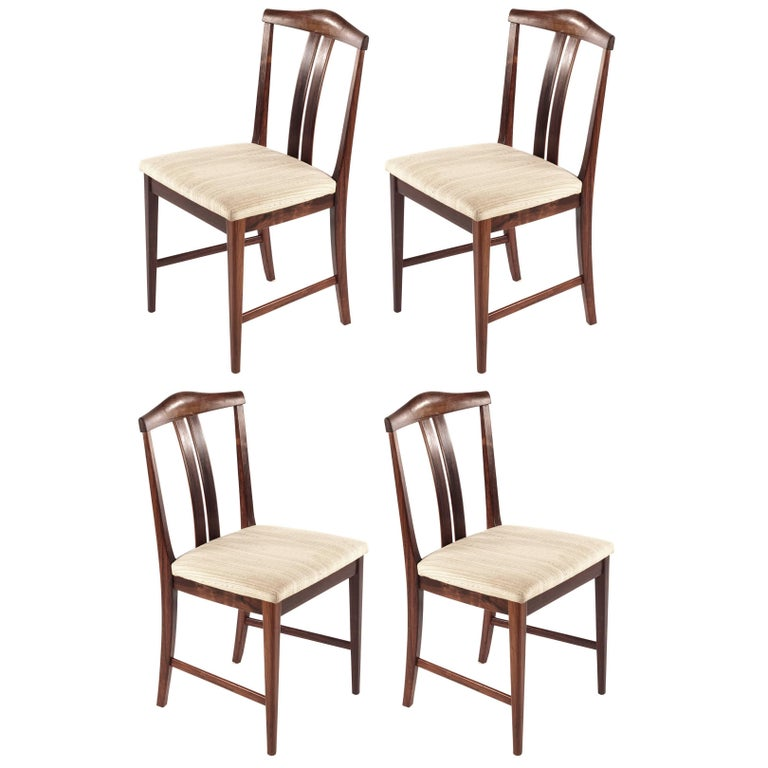 Swedish Rosewood chairs, Designed by Bertil Fridhagen, 1960s For Sale