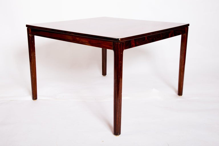 Fully restored with classic French polish, this is a Swedish rosewood coffee table by Alberts, from Sweden, 1960s. Signed underneath.