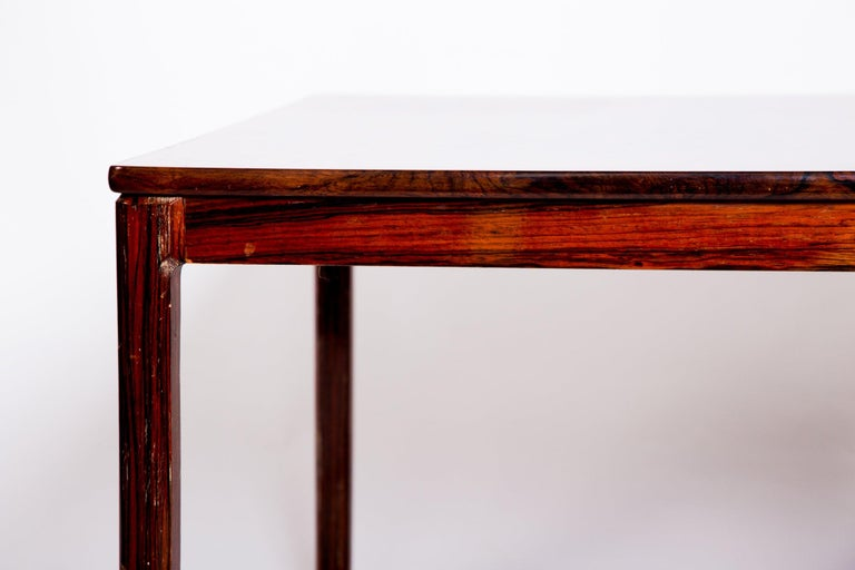 Mid-20th Century Swedish Rosewood Coffee Table by Alberts Tribro, 1960s For Sale