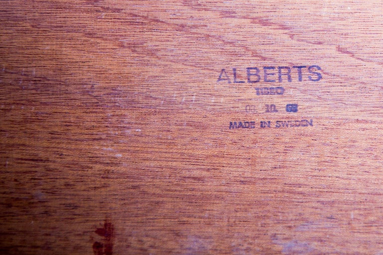 Swedish Rosewood Coffee Table by Alberts Tribro, 1960s For Sale 1