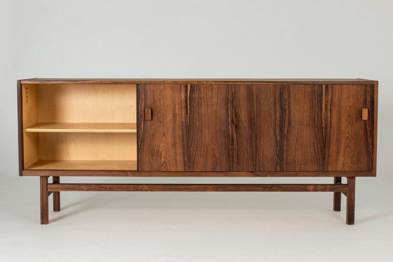 Swedish Rosewood Sideboard by Nils Jonsson for Troeds, 1960s In Good Condition For Sale In Stockholm, SE
