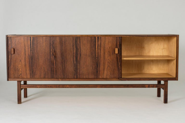 Mid-20th Century Swedish Rosewood Sideboard by Nils Jonsson for Troeds, 1960s For Sale