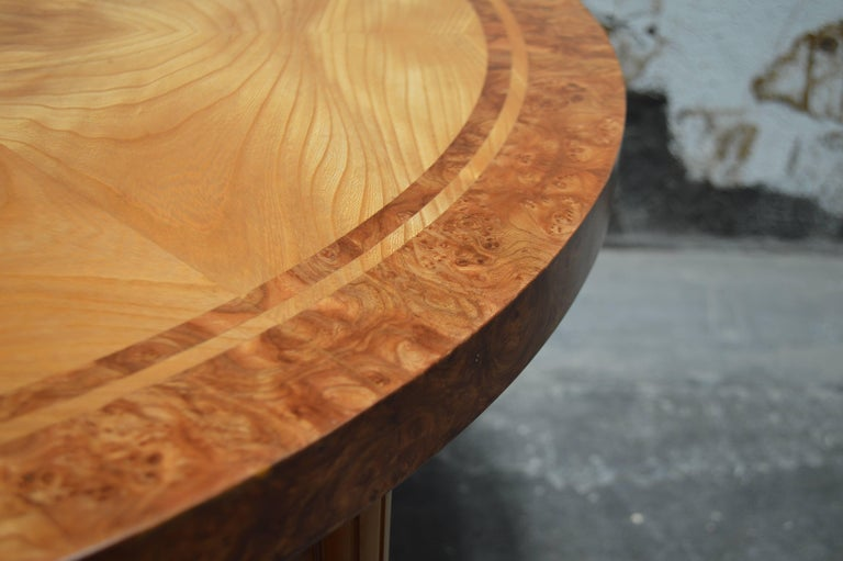 Swedish Round Golden Elm End or Side Table For Sale 4