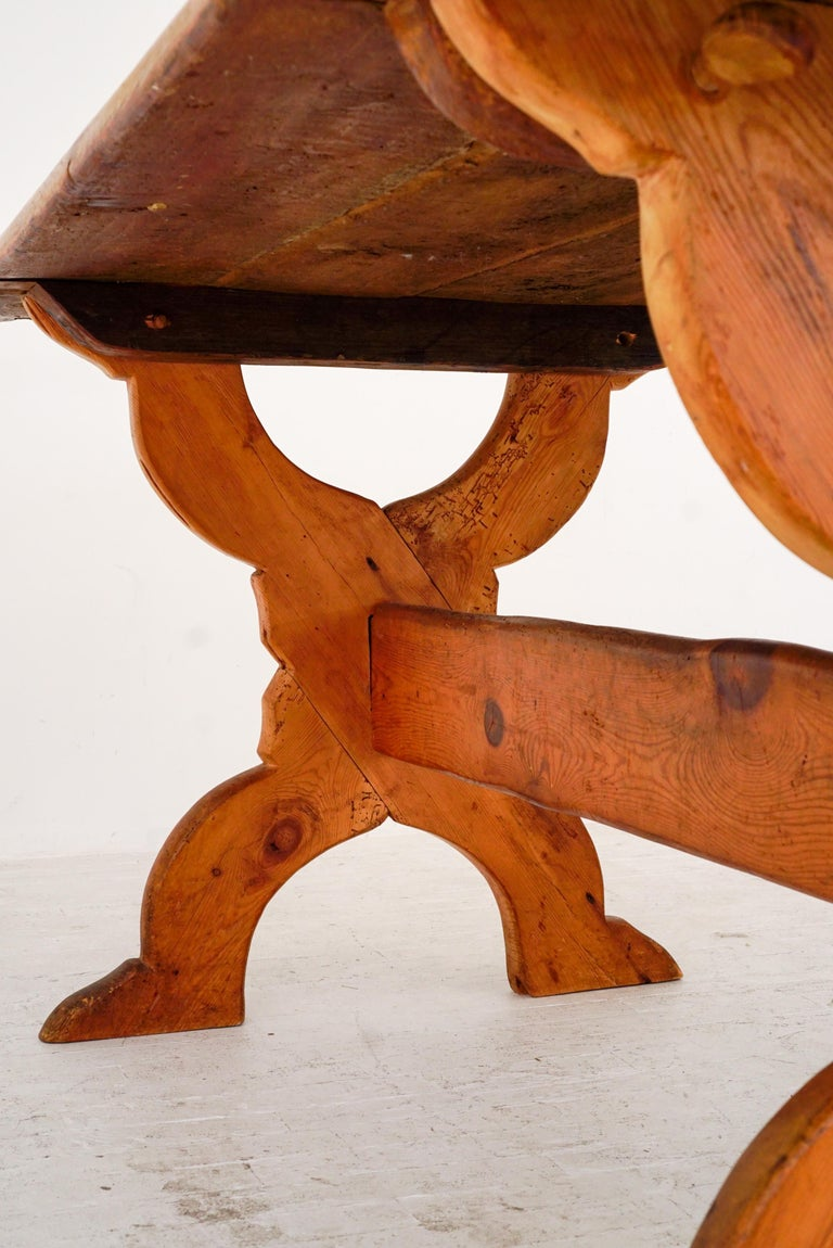 Swedish Rural Pinewood Table, 19th Century For Sale 1