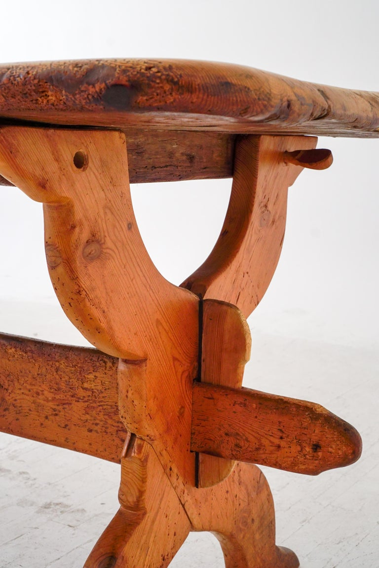 Swedish Rural Pinewood Table, 19th Century For Sale 2