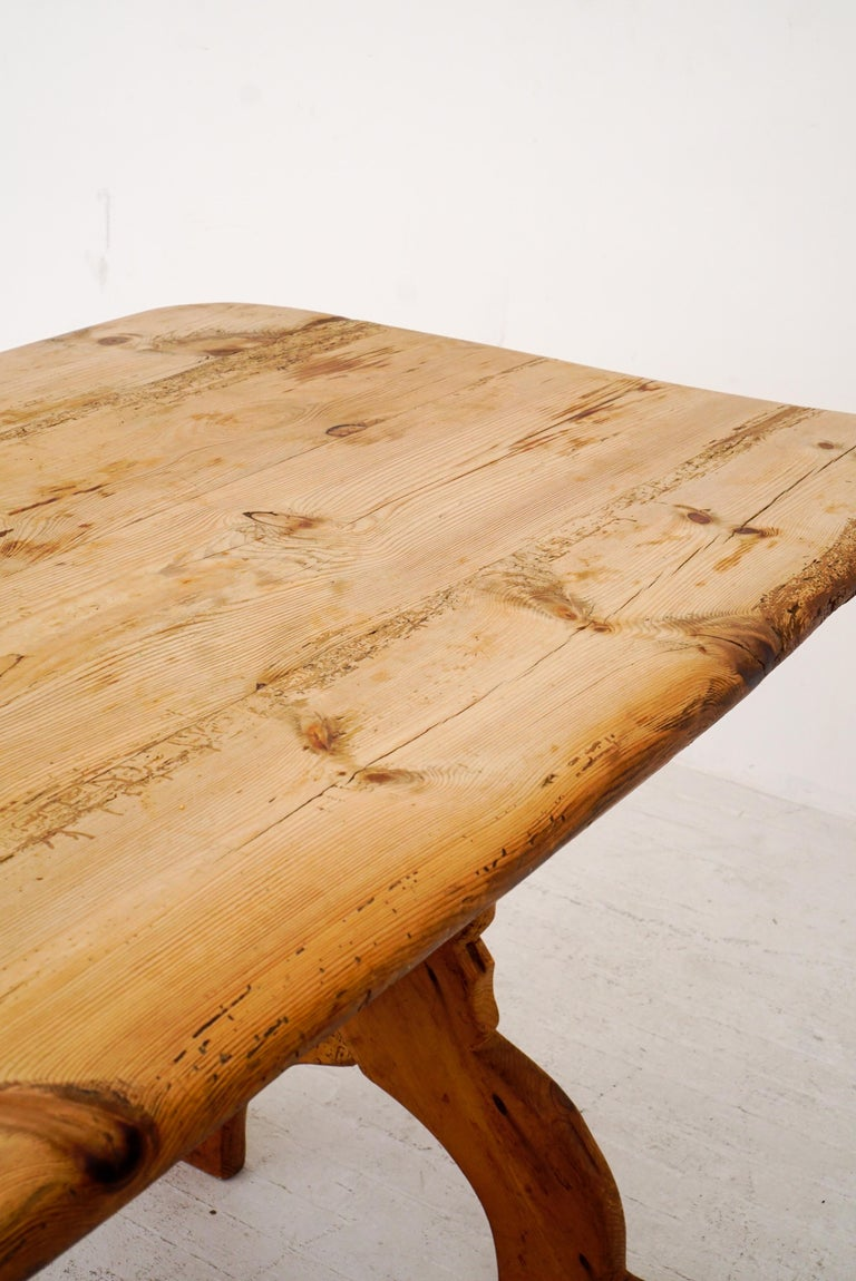Swedish Rural Pinewood Table, 19th Century For Sale 3