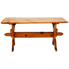 Swedish Rural Pinewood Table, 19th Century