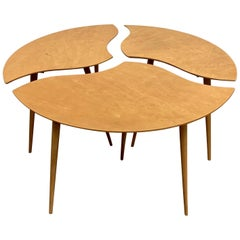 "Swedish Segmented ""Toothpick"" Table"