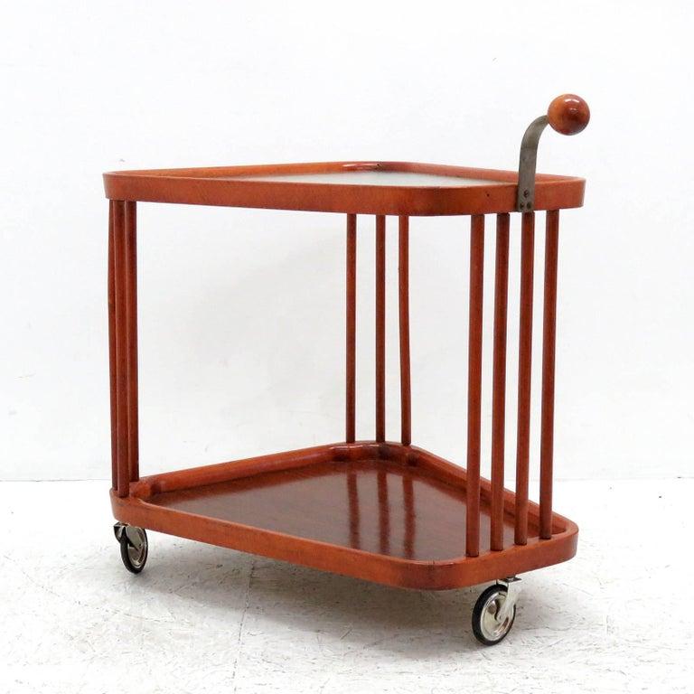 Metal Swedish Serving Cart, 1960s For Sale