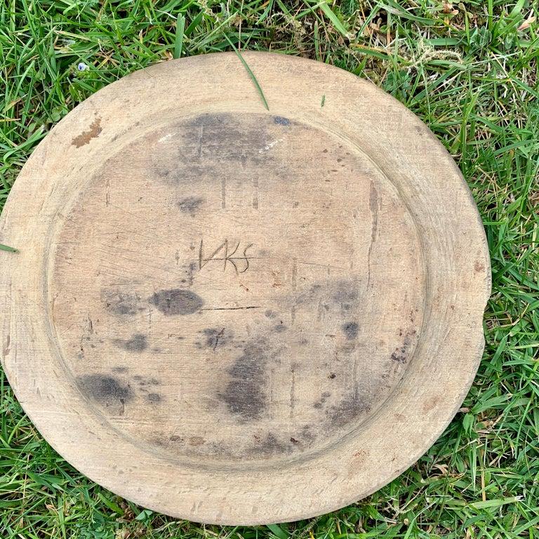 Swedish Set of 10 Wooden Folk Art Dinner Plates For Sale 7