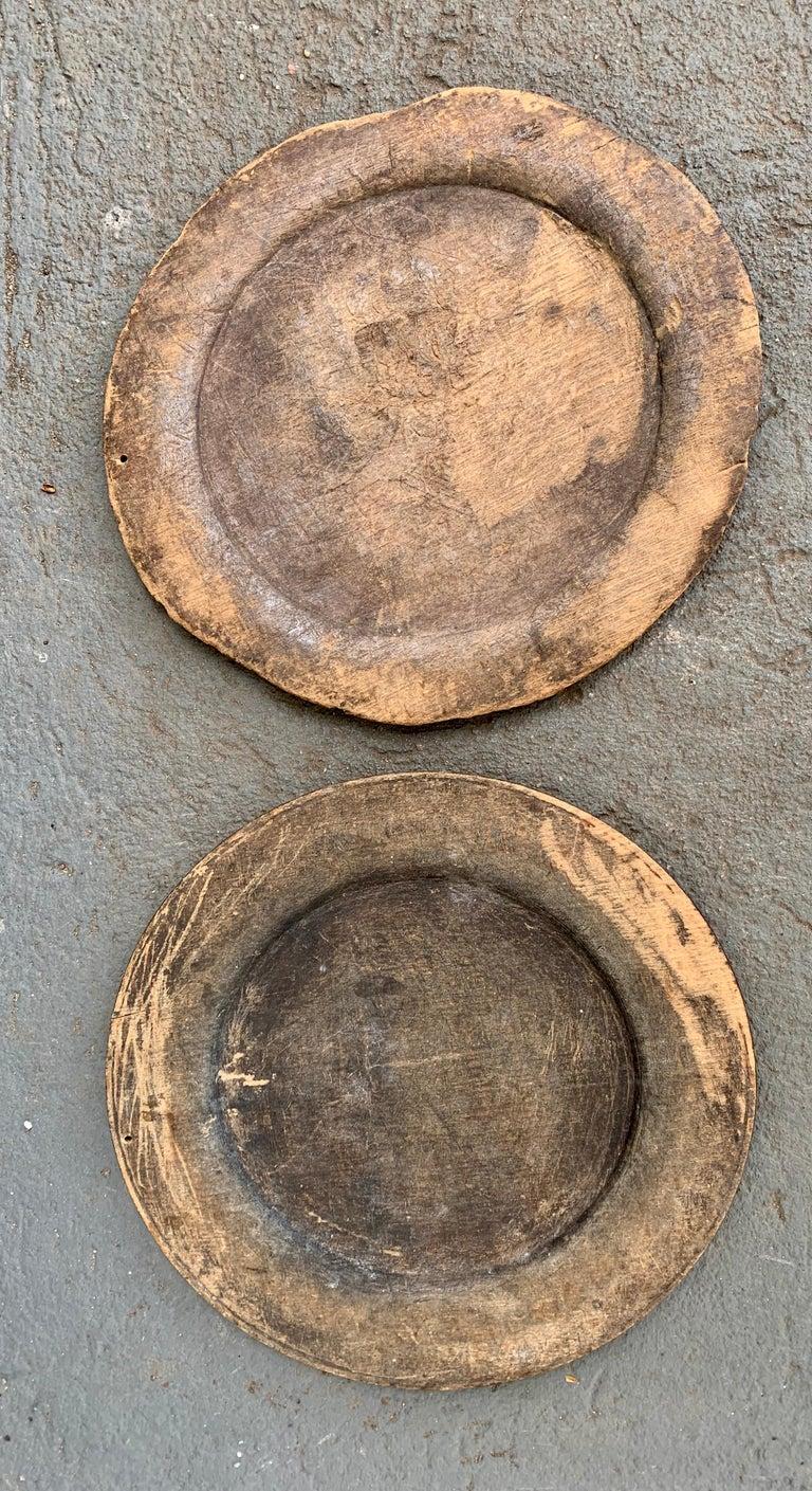 Swedish Set of 10 Wooden Folk Art Dinner Plates For Sale 9