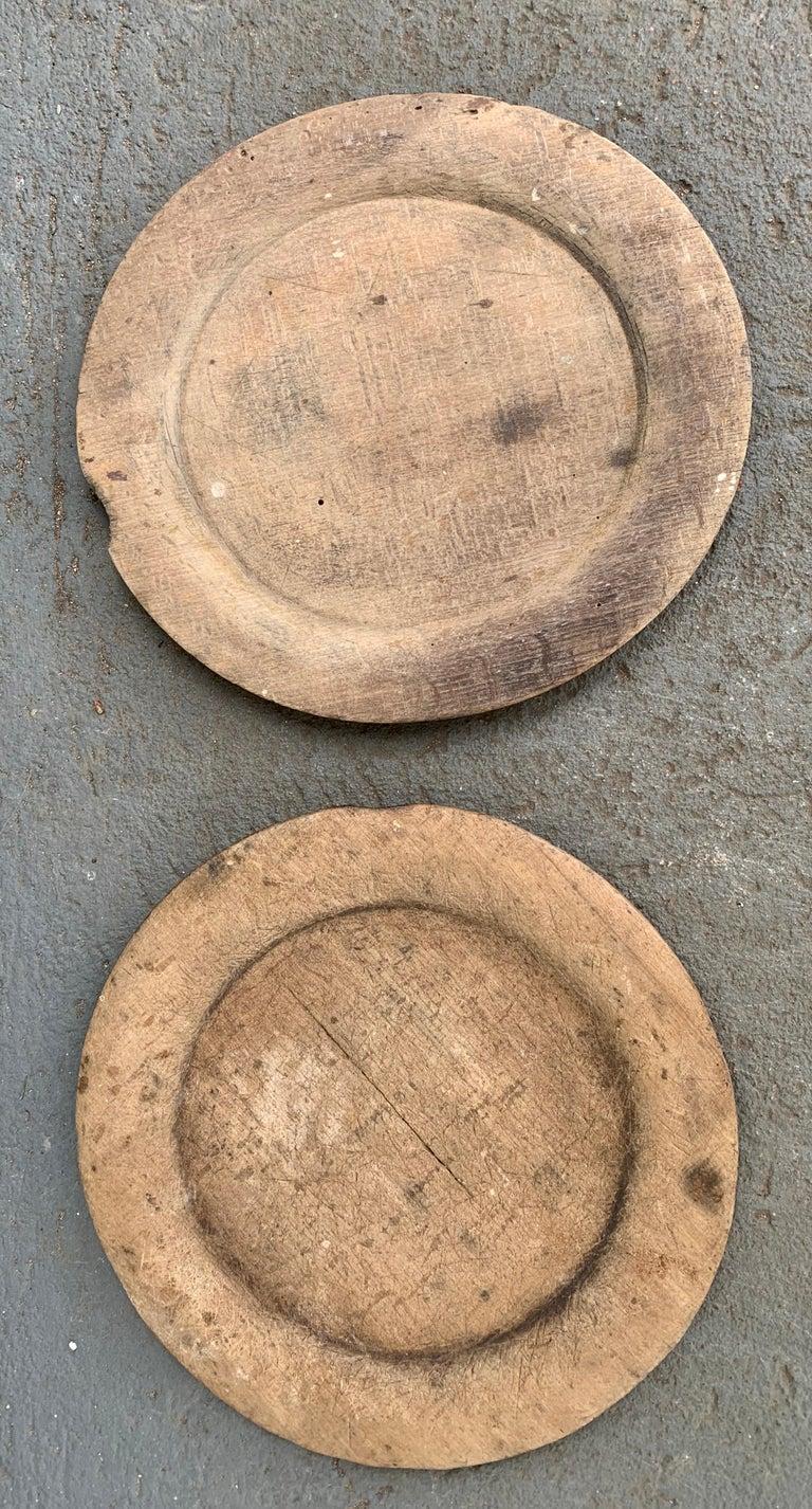 Swedish Set of 10 Wooden Folk Art Dinner Plates For Sale 10