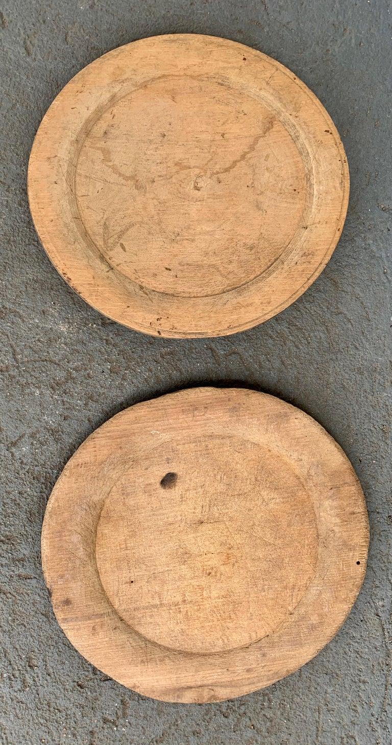 Swedish Set of 10 Wooden Folk Art Dinner Plates For Sale 12