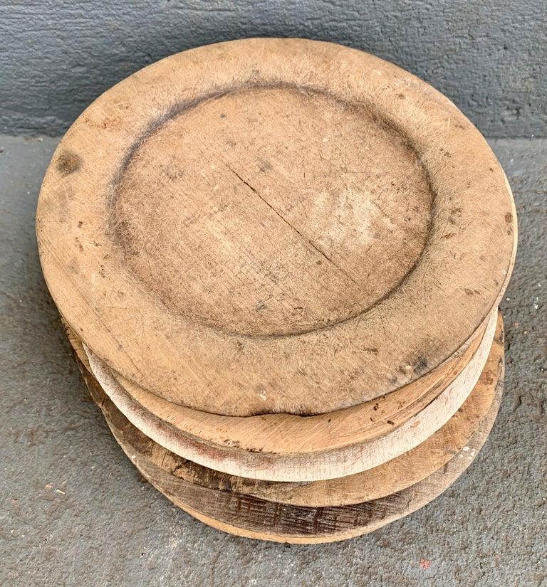 Swedish Set of 10 Wooden Folk Art Dinner Plates For Sale 3
