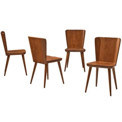 Swedish Set of Four Dining Chairs in Pine by Goran Malmvall